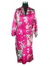 2015 Silk Kimono Robes For Women Satin Bathrobe Long Silk Robes For Bridesmaids Longue Femme Women Dressing Gown Bridesmaid Robe(China (Mainland))