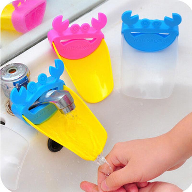 1 PC Cartoon Baby Toddler Bathroom Faucet Sink Chute Extender Crab Children Kids Convience Washing Hands