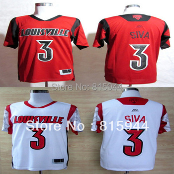 College Louisville Cardinals #3 Peyton Siva white/ red basketball ncaa jerseys mix order free shipping