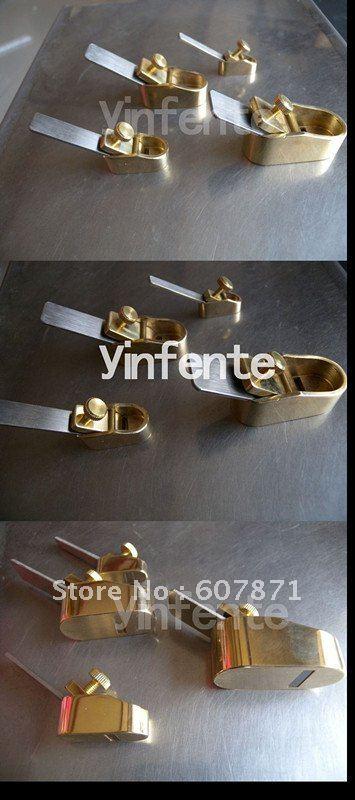 4pcs Flat Brass Violinmakers Planes Tool Golden #10F<br><br>Aliexpress