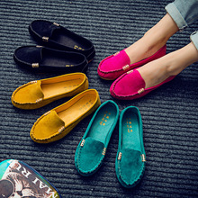 2016 spring summer  women casual shoes solid slip-on women flats  loafers comfortable women flat shoes chaussure femme DT81(China (Mainland))