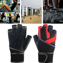 Gym Body Building Training Fitness Dumbbell Gloves Sports Equipment Weight lifting Workout Exercise breathable Wrist Wrap Mitten