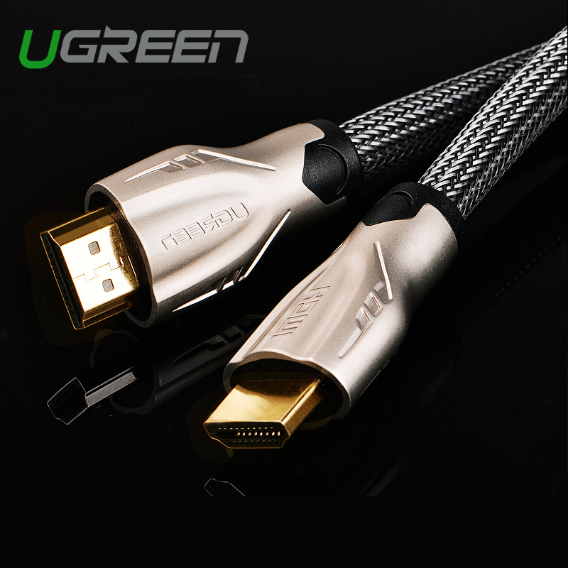 Ugreen HDMI cable adapter 1m 2m 3m HDMI to HDMI cable HDMI 4K 3D 1.4v cable for HD TV LCD laptop PS3 projector computer cable(China (Mainland))