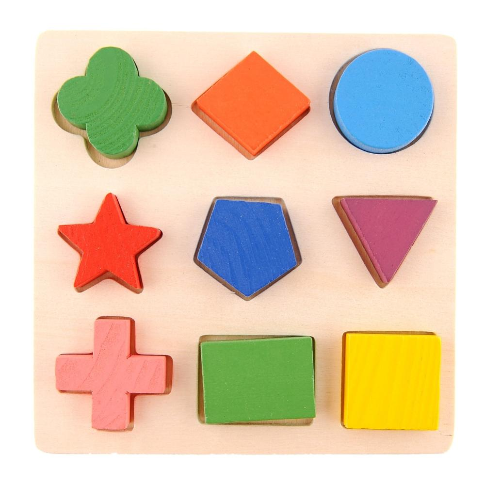 Wooden Pattern Stacking Block Toy Montessori Educational Play Baby Age 3+ Drop Shipping(China (Mainland))