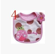 cotton Baby Bibs kids Saliva Towel Waterproof Lunch bibs Infants Cartoon Pattern cute Bibs Free shipping