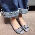 2017 New Arrival Comfortable Flat Shoes Spring Shoes for Women Metal Decoration Slip on Loafers for