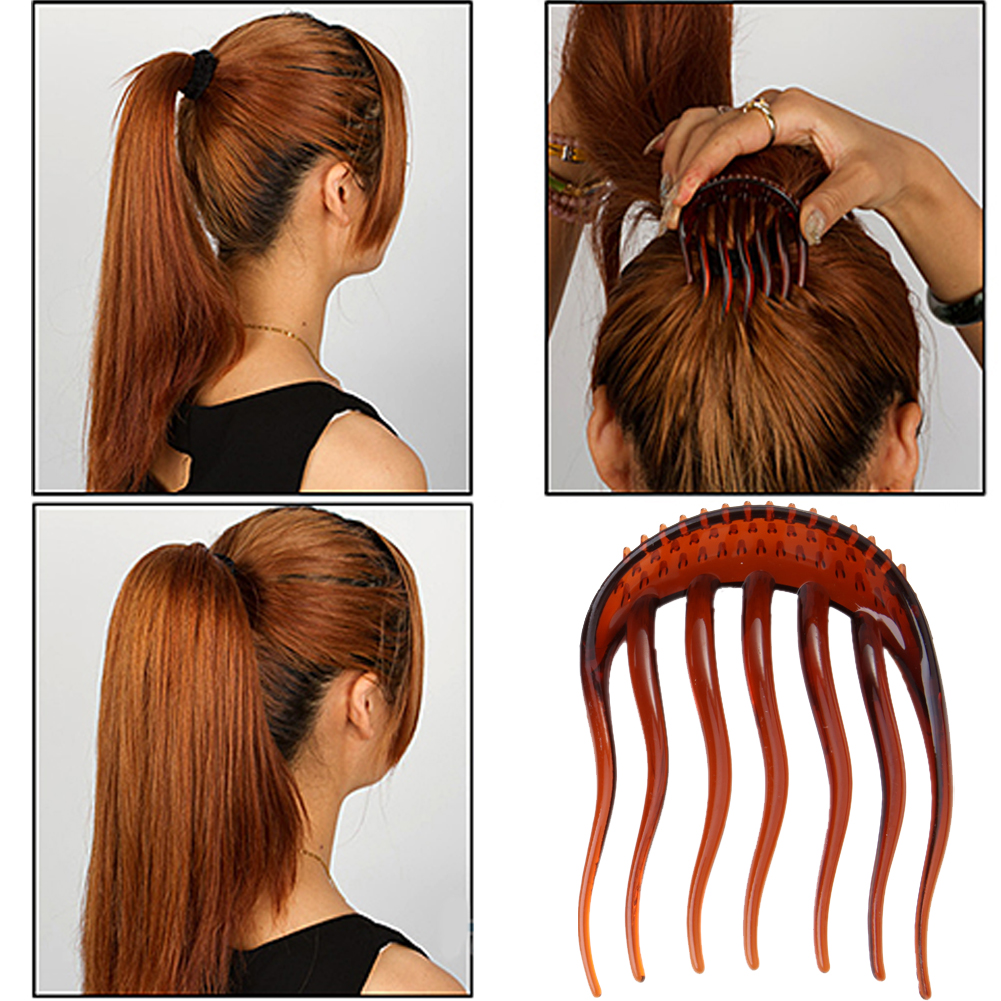 Color Useful Volume Inserts Hair Clip Bumpits Bouffant Ponytail Hair ...