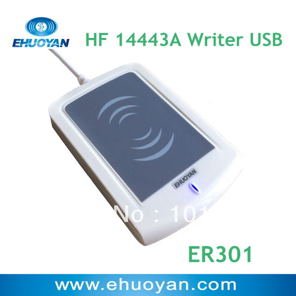 EHUOYAN/13.56Mhz ISO 14443 A Rfid Writer USB ER301 + SDK+software eReader V4.2(China (Mainland))
