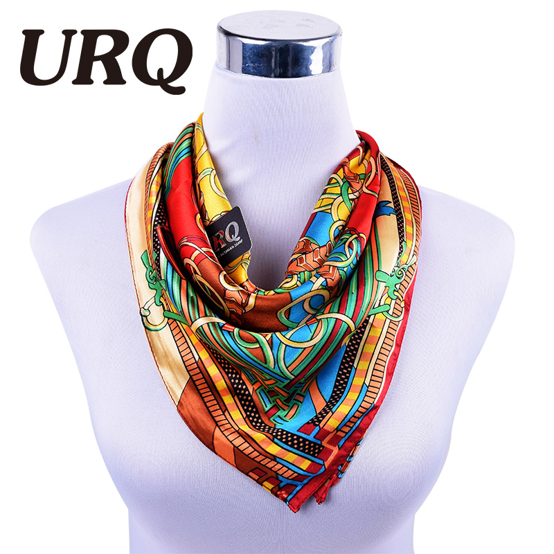 Beautiful!!!!60*60 Satin Square Silk Scarf Printed For Ladies hijab New Arrival Women Brand Polyester Scarves 2016 Hot Sale(China (Mainland))