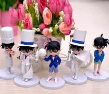 5pcs/set Detective Conan Toys Anime action figure car styling tools home decoration Brinquedos Christmas gift