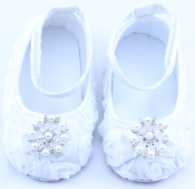 New Baby Girls Flower with Rhinestone First Walkers Shoes Infant Soft Sole Toddler Shoes Princess Dance Shoes(China (Mainland))