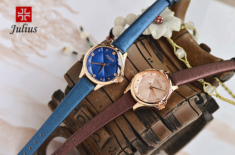 Леди наручные часы кварцевые женские новинка горный хрусталь Checkboard платье браслет кожаный девушка подарок на день рождения юлий 882