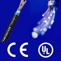 Waterproof coil fiber optical cable with CE and ISO
