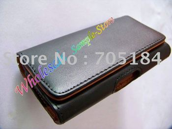 Flip PU Leather pouch pouches holster Belt clips cover case for iphone 3 3G 3GS 4 4s 4G 4th  50pcs