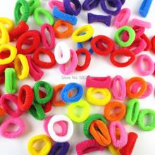 80pcs bag Colorful Child Kids Hair Holders 2014 New Fashion Cute Rubber Bands Hair Elastics Accessories