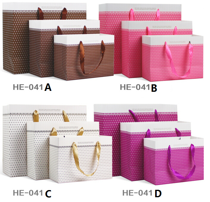 Wedding party Purple paper Packing bags for clothes,large paper shopping bags with handles(China (Mainland))