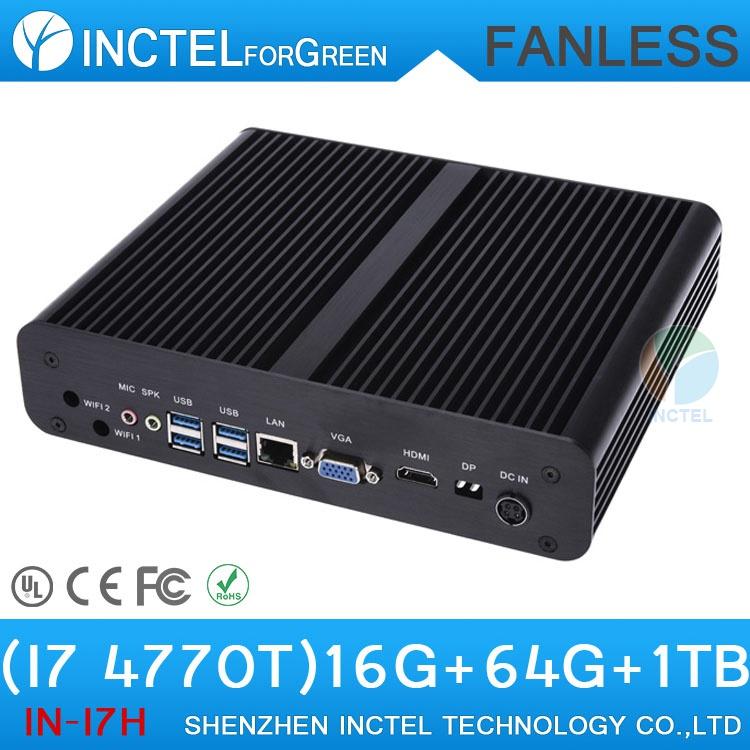 i7 Mini PC Computer HTPC Fanless PC with Intel Quad Core i7 4770T desktop computer(China (Mainland))