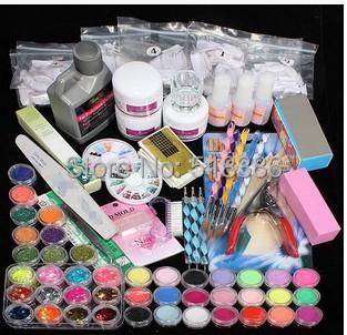 Free shipping hot nail manicure tools combination Crystal Nail Kit Kit nail phototherapy<br><br>Aliexpress