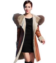 Large size women's Winter Fur coat jacket Winter 2015 new female Hooded Lengthening thick warm Fur coat jacket women