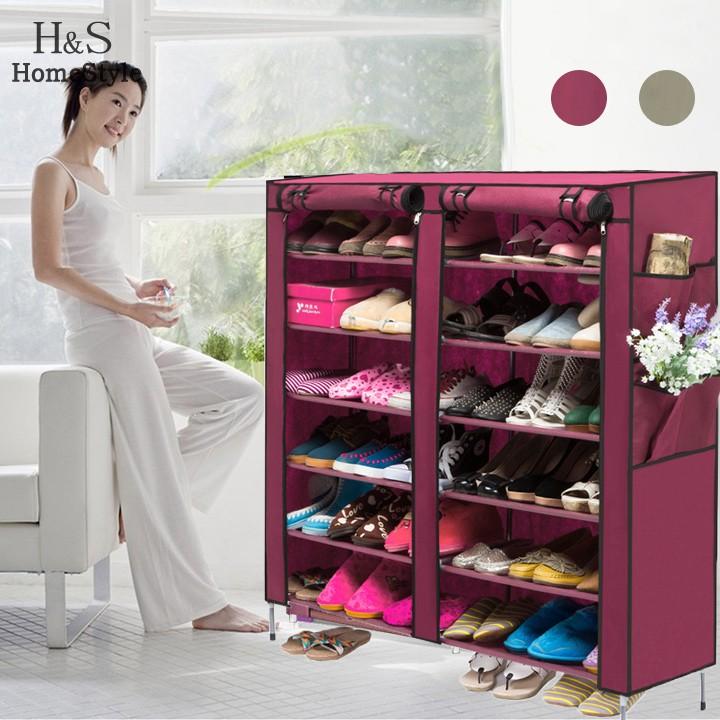 US Stock Portable Home Shoe Rack Shelf Shoe Storage Closet Organizer Cabinet 6 Layer 12 Grid(China (Mainland))