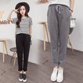 Spring Summer Autumn New Women Pants Retro Loose Harem Pants Casual Black Gray Cotton Linen Pencil