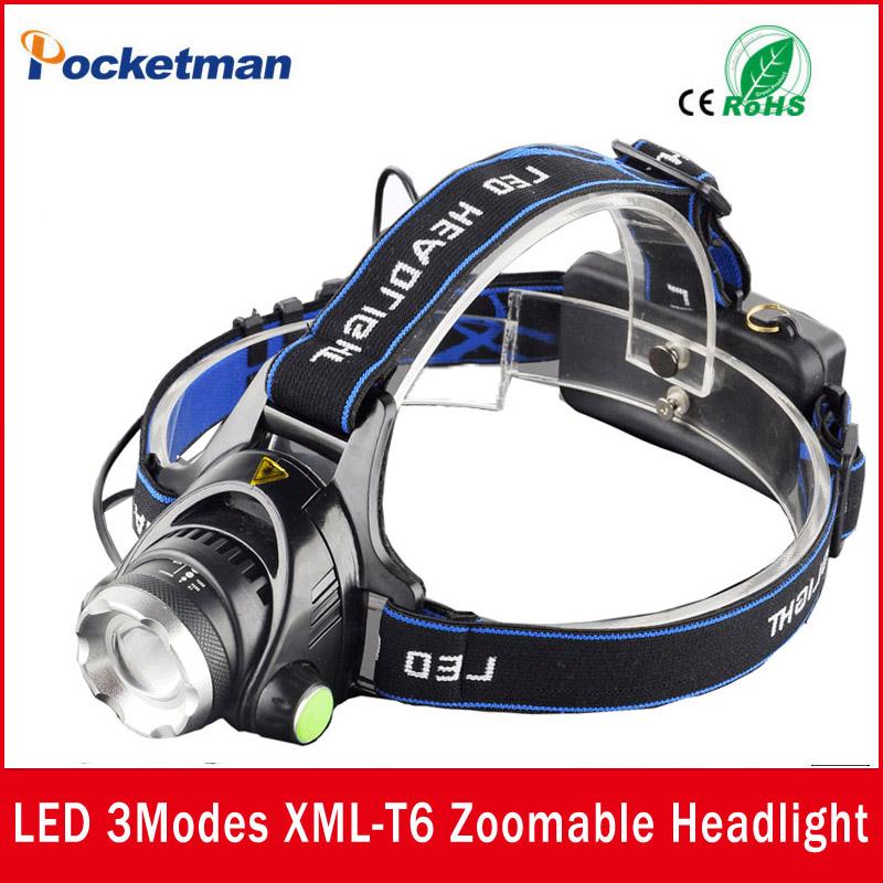 LED Headlight CREE T6 led headlamp zoom 18650 Head lights head lamp 2000lm XML-T6 zoomable lampe frontale LED flashlight zk93(China (Mainland))