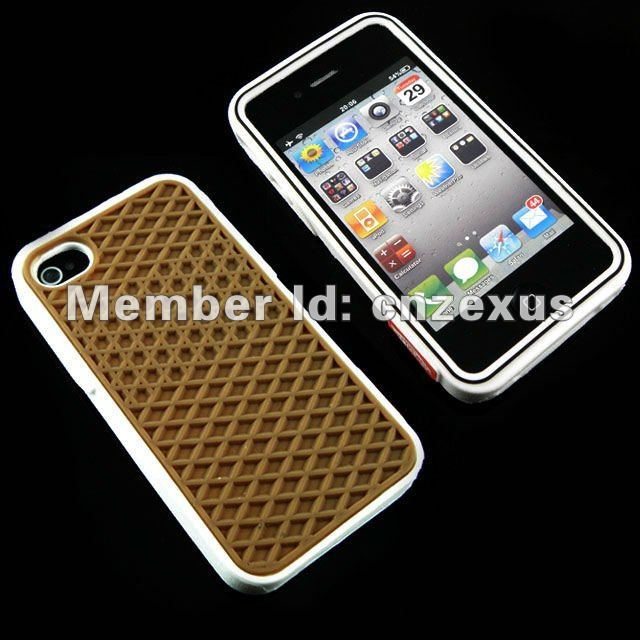 Retailing Cell Phone Case for iPhone4 Case Shoes Design Waffle Cover and Mobile Phone Solo Casing for iPhone 4S