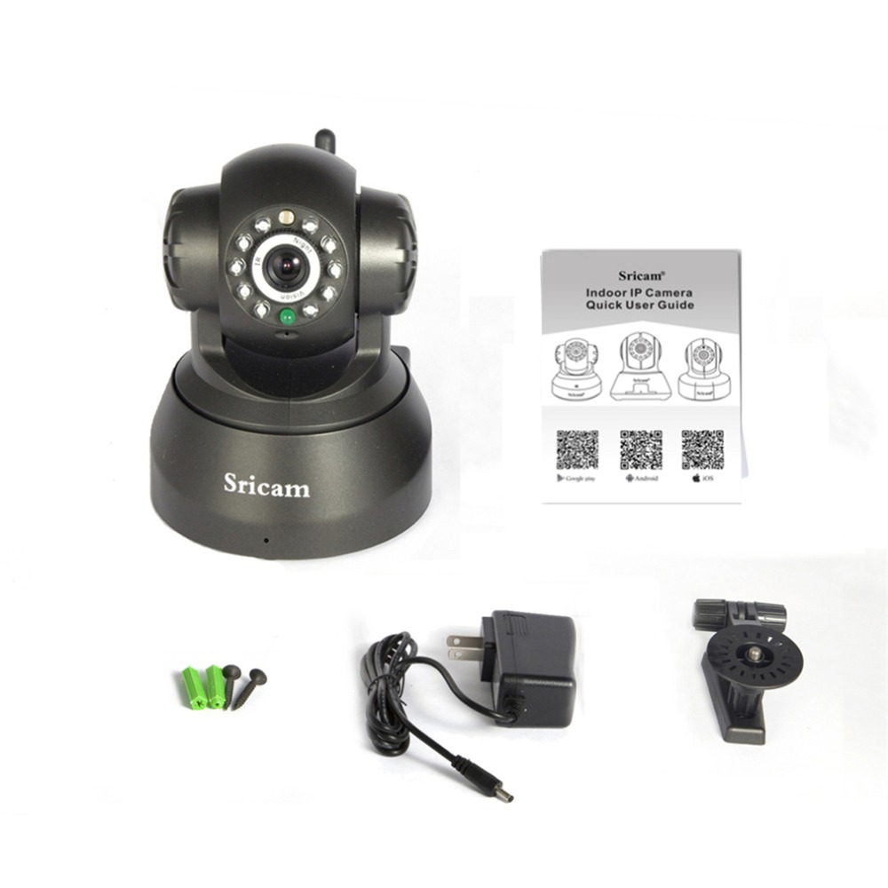 Wireless IP Camera WiFi 11 IR LEDs Night Vision PNP Dual Audio Network CCTV Indoor Home Camera Black<br><br>Aliexpress