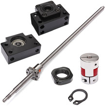 Antibacklash Ball Screw SFU1605 L650mm C7+ BK/BF12 Support + 2 Couplers Nuts - Home Improvement Mall store