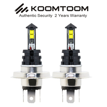 H4 LED Bulb Light 9W White Fog lamps Auto 420LM Univeral Car 2 Years Warranty - KOOMTOOM Headlights Store store