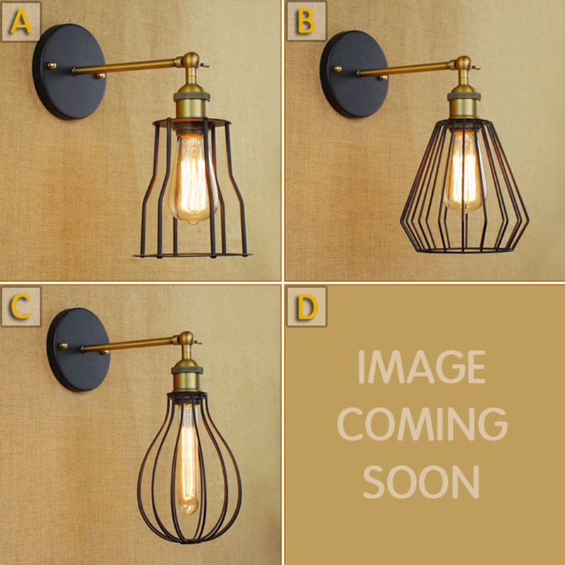 Vintage bedside wall lamps industrial Iron Loft Aisle rustic wall sconces Lamp For Cafe Club Bar Decoration fixture Lighting(China (Mainland))
