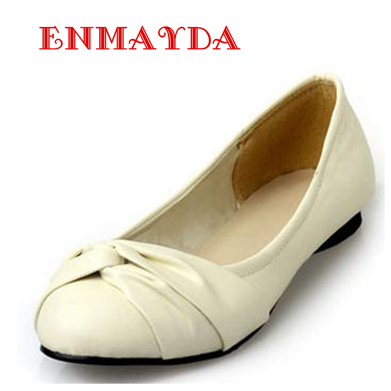 ENMAYDA Big Size 34-43 New Fashion Lady Flat Shoes for Women Women Flats and Woman Summer Shoes Beige Blue Yellow Black Pink(China (Mainland))