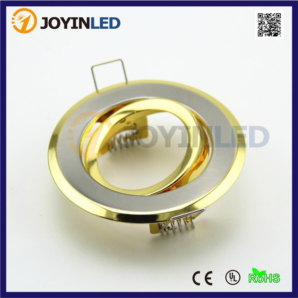 Cheaper promotion Gold color COB led spotlight gu10 mr16 fixture fame trims(China (Mainland))