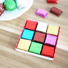 200 pcs 100*100mm Square Foil Wrappers for Candy Chocolate Sweets Confectionery(China (Mainland))