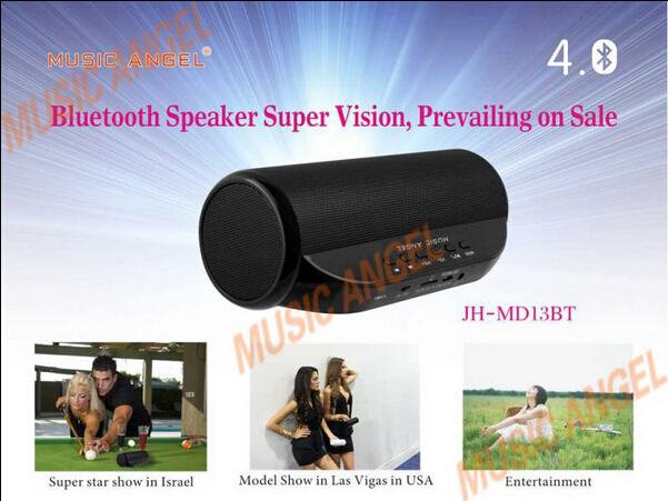 Original Brand Music Angel JH-MD13BT 4W*2 Bluetooth 4.0 Wireless Radio Speaker FM TF Card NFC Speaker Handsfree Call(China (Mainland))