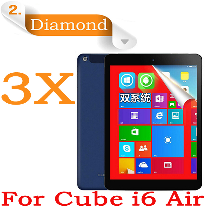 """Diamond Sparkling Screen Guard 3G Quad core Tablet PC Cube i6 Air Protective Film,9.7""""IPS Cube i6 Air LCD Screen Protector 3pcs(China (Mainland))"""