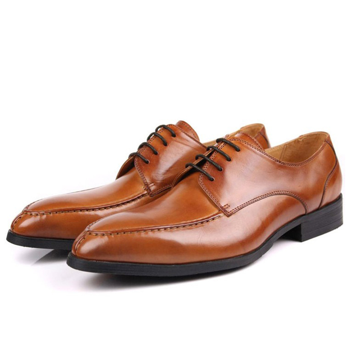 Фотография 2016 New Spring Real Genuine Leather Formal Luxury Brand Man Italian Oxfords Men