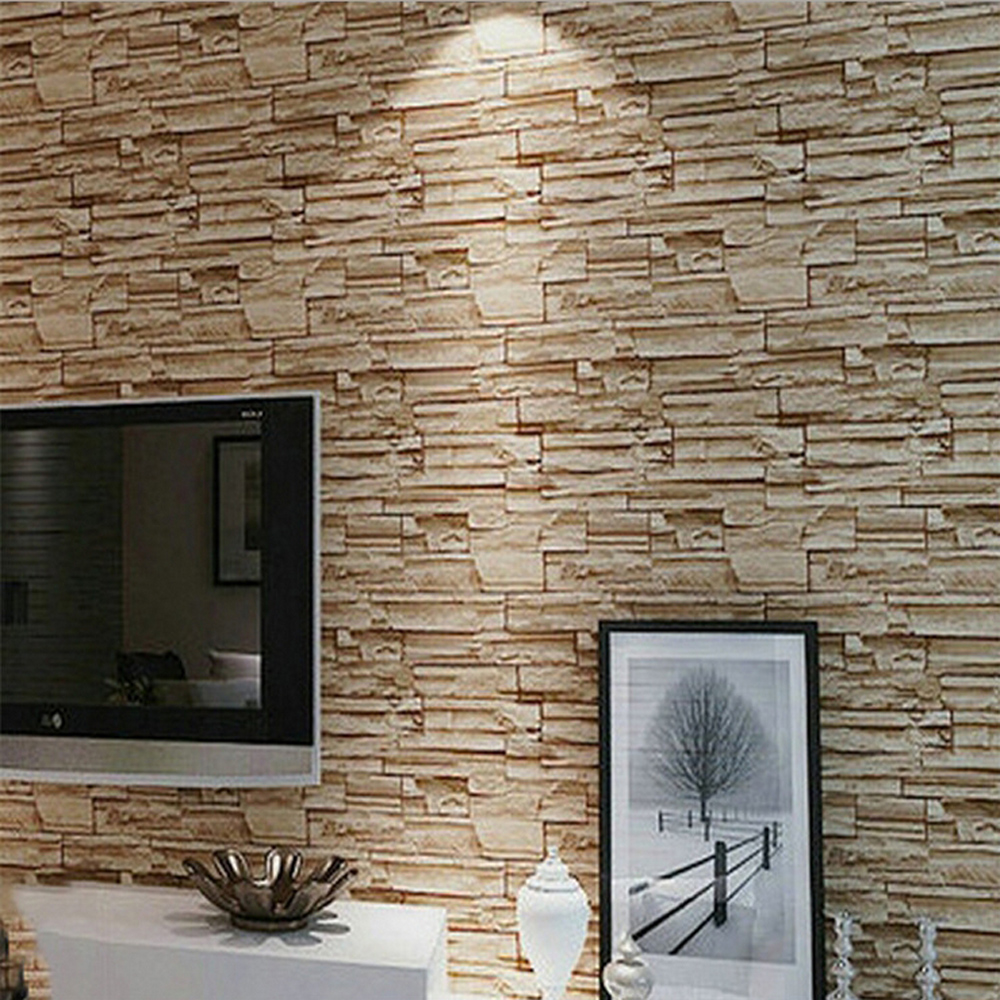 Online get cheap brick wall decorating for Cheap brick wallpaper