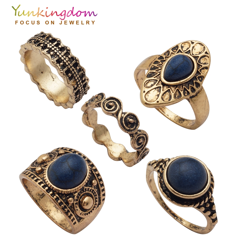 Buy new vintage ring set simple style Vintage style fashion rings