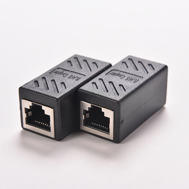 1PC Black Female to Female Network LAN Connector Adapter Coupler Extender RJ45 Ethernet Cable Join Extension Converter Coupler(China (Mainland))