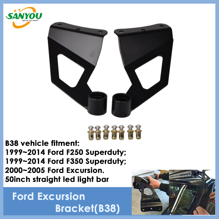 2015 New Arrival 2Pcs Steel Bracket for 50 Inch Led Lamp Bar Stainless Steel Bracket for Ford F250/F350/Excursion<br><br>Aliexpress
