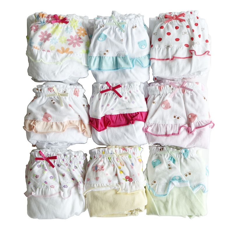 Girls New 3pcs Kids Baby Girl Toddler Pants Cute Cotton Underwear Briefs 4 Sizes Arrival(China (Mainland))