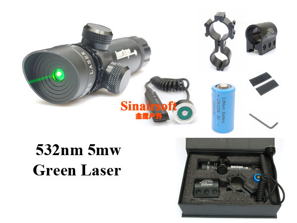 Tactical Green Laser Sight With Rail 2MountS/Rifle Laser Sight Laser Pointer,Laser Scope<br><br>Aliexpress