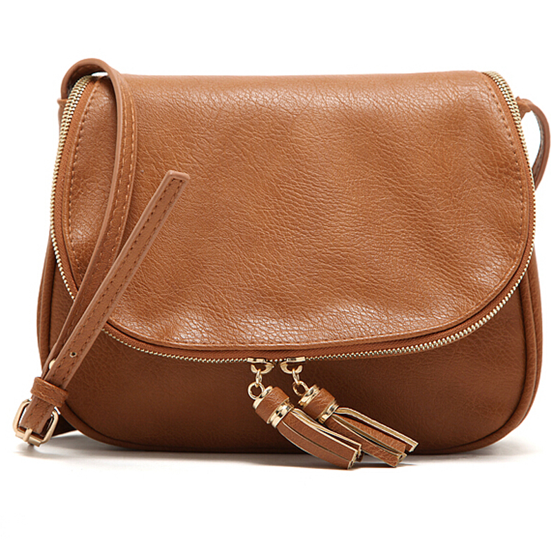 Hot Sale Tassel Women Bag Leather Handbags Cross Body Shoulder Bags Fashion Messenger Bag Women Handbag Bolsas Femininas(China (Mainland))