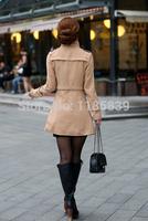 роскошный британский стиль женщины зимой длинные толстые шерстяные теплые пуховики пальто дамы пальто пальто повседневные платья