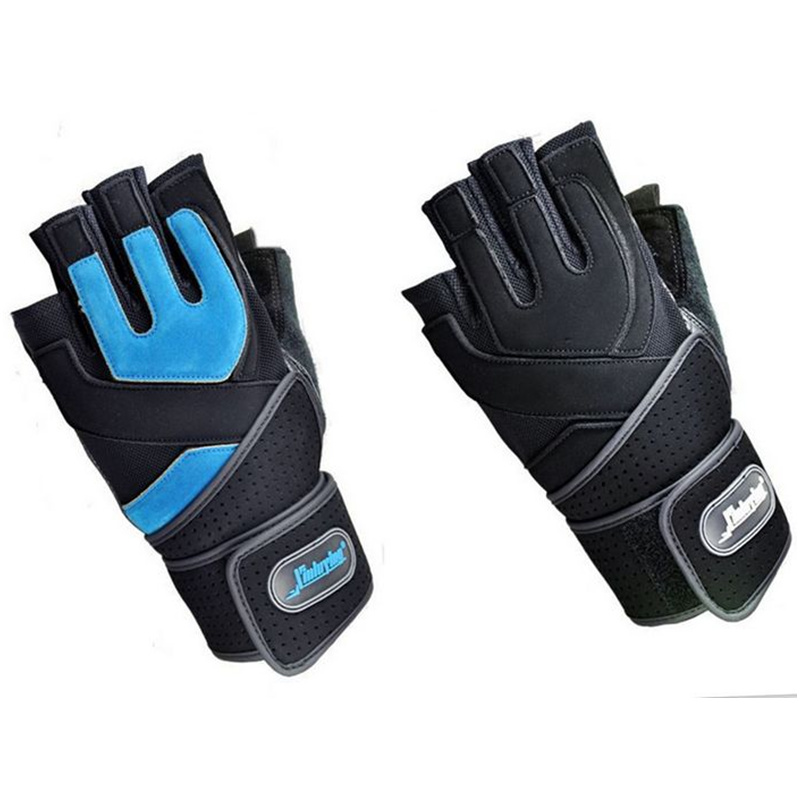 Good Quality Gym Body Building Training Fitness Gloves Sport Equipment Weight lifting Workout Exercise Durable Wrist Wrap M\L(China (Mainland))