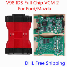 Best Price For Ford VCM2 Full Chip Professional OEM Diagnostic Tool V98 IDS VCM II For Ford / Mazda VCM 2 VCMII OBD2 Scanner(China (Mainland))