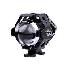 Newest 250w Waterproof Motorcycle Spotlights Auxiliary Lamp Cree U5 Led Motorcycle Headlights Accessories Moto Driving Fog Light()