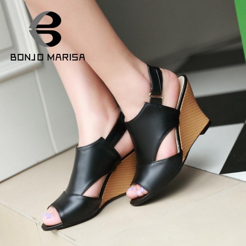 Women Gladiator Sandals 2015 Fashion High Heel Wedges Sweet Open Toe Less Platform Summer Shoes Woman Sandals