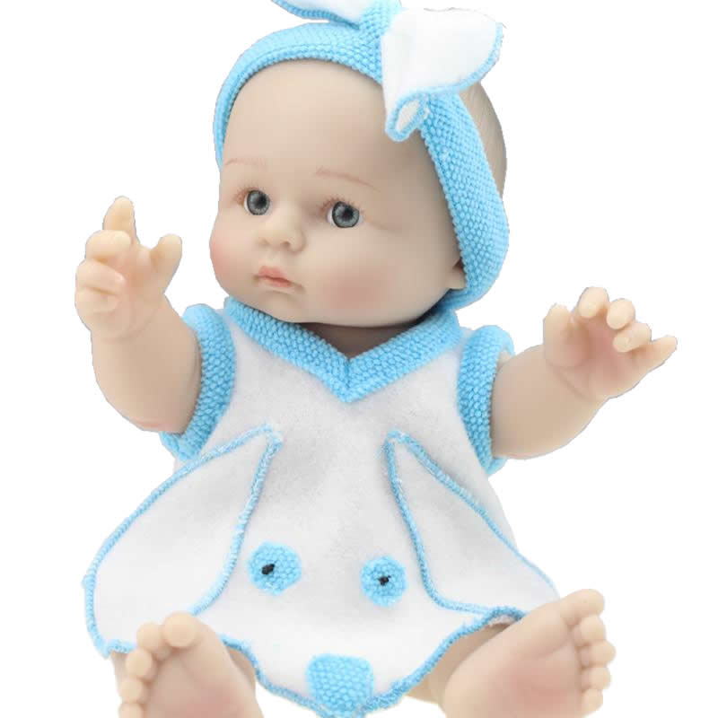NPK Collection 8 Inch Mini Full Silicone Vinyl Simulation Reborn Baby Doll Boys Cute Children's Lovely Birthday Gift For Babies(China (Mainland))